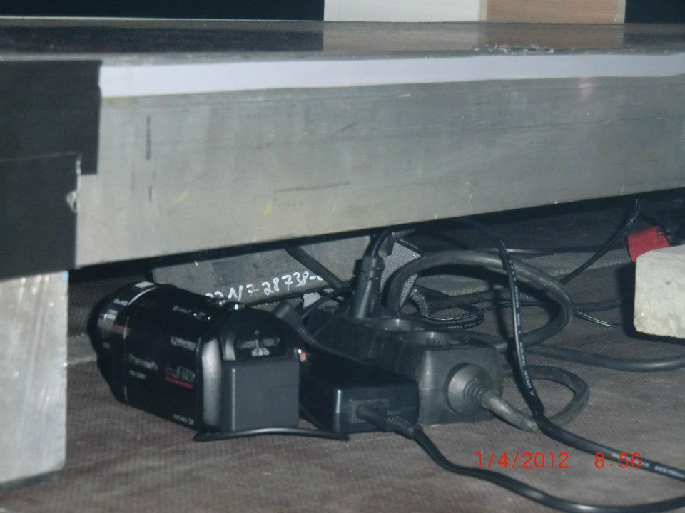 La telecamera di Luca Dea durante la sua prima volta al Time Warp 2012 sul palco